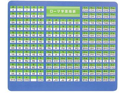 マウスパッド・ローマ字変換 ... : パソコン アルファベット : すべての講義